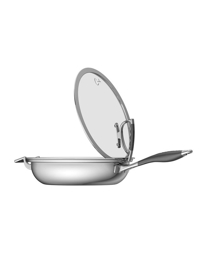 """CookCraft - 13"""" French Skillet with Glass Latch Lid"""