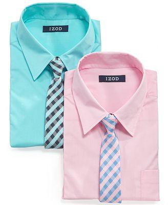 Izod Kids Shirt Little Boys Shirt Tie Set Kids Macy 39 S