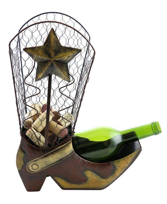 Wine Bodies Cowboy Boot Cork and Bottle Holder