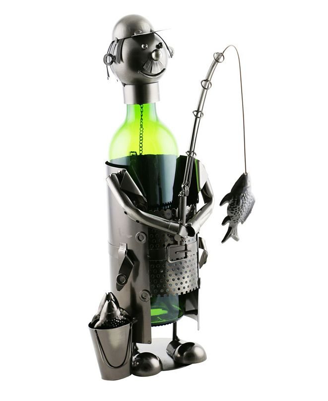 Wine Bodies Fisherman with Pale Wine Bottle Holder