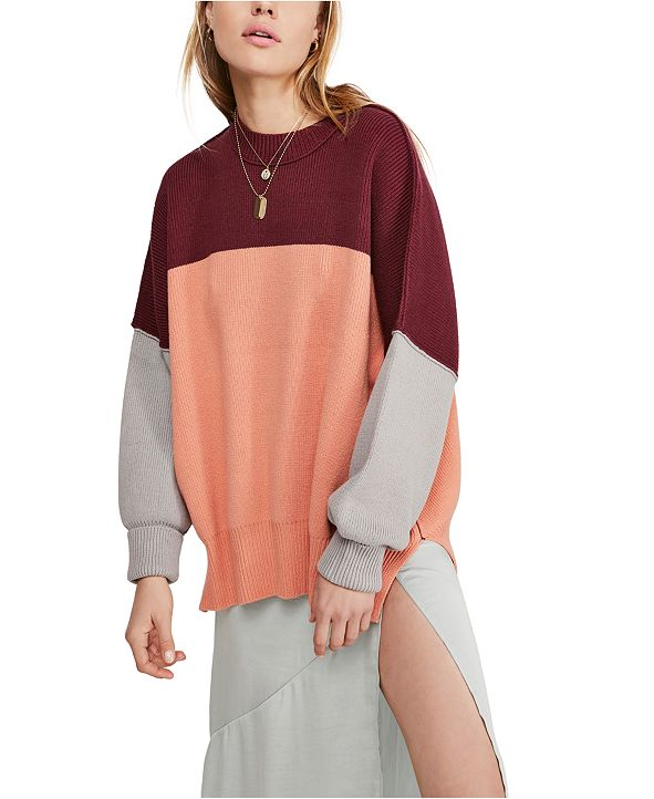Free People Easy Street Colorblock Sweater