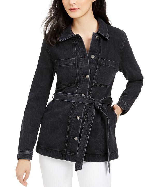 OAT Belted Denim Jacket
