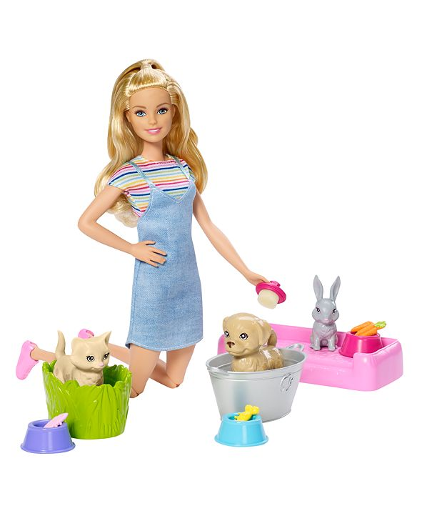 Barbie Plan 'n' Wash Pets™ Doll and Playset