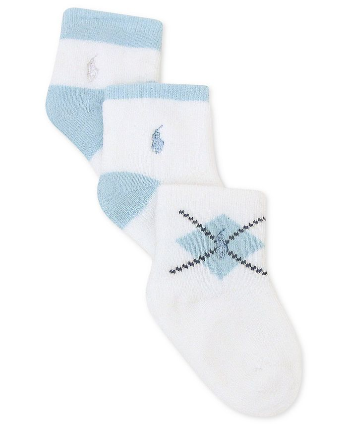 Polo Ralph Lauren - Baby Socks, Baby Boys 3-Pack Argyle Socks