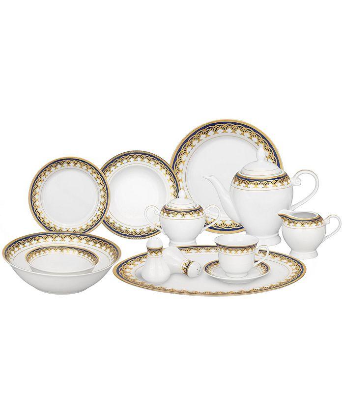 Lorren Home Trends - Iris 24-Pc. Dinnerware Set, Service for 4