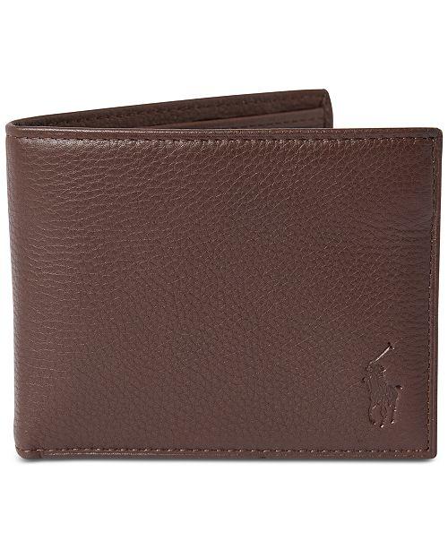 Polo Ralph Lauren Men S Pebbled Leather Passcase Reviews All Accessories Men Macy S