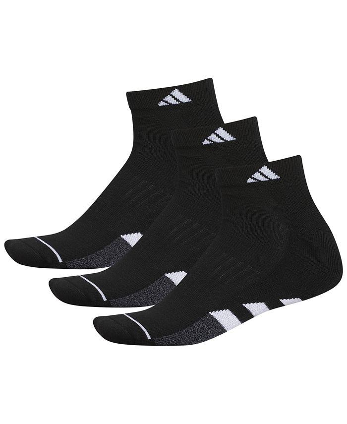 adidas - 3-Pk. Men's Cushioned Quarter Socks