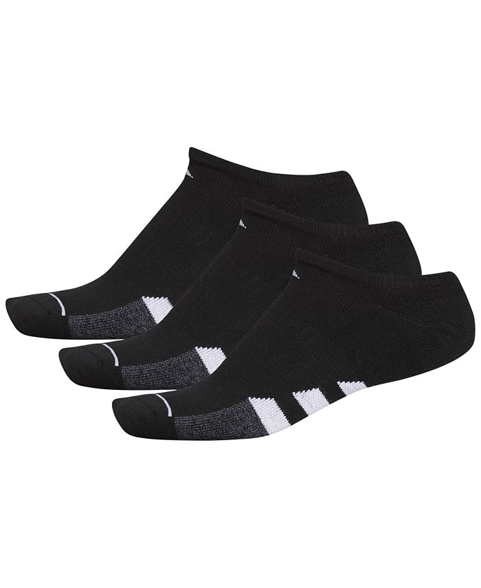adidas - Men's 3-Pk. Cushioned No-Show Socks