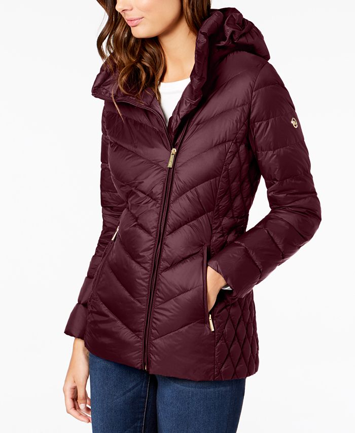 Michael Kors - Asymmetrical Hooded Puffer Coat