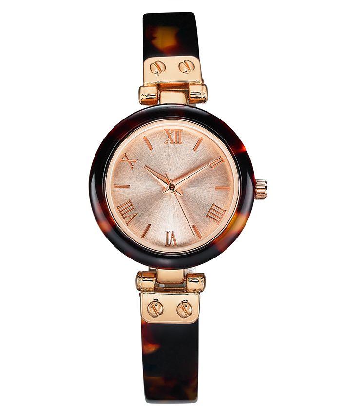 Charter Club - Women's Tort-Look Resin Bangle Bracelet Watch 30mm
