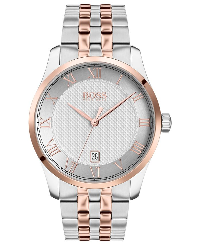 BOSS - Men's Master Two-Tone Stainless Steel Bracelet Watch 41mm