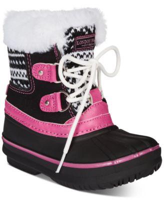 London Fog Little Girls Snow Boot