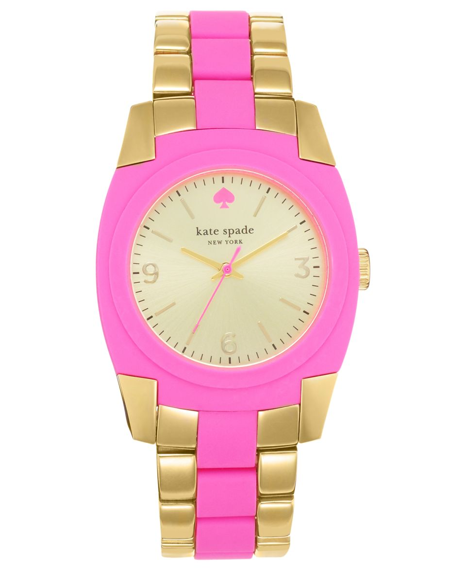 kate spade new york Watch, Womens Skyline White Silicone and Rose Gold Tone Stainless Steel Bracelet 36mm 1YRU0176   Watches   Jewelry & Watches