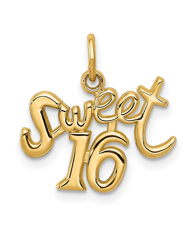 Macy's Sweet 16 Charm in 14k Gold