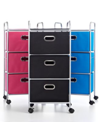 Honey Can Do Rolling Cart, 3 Drawer