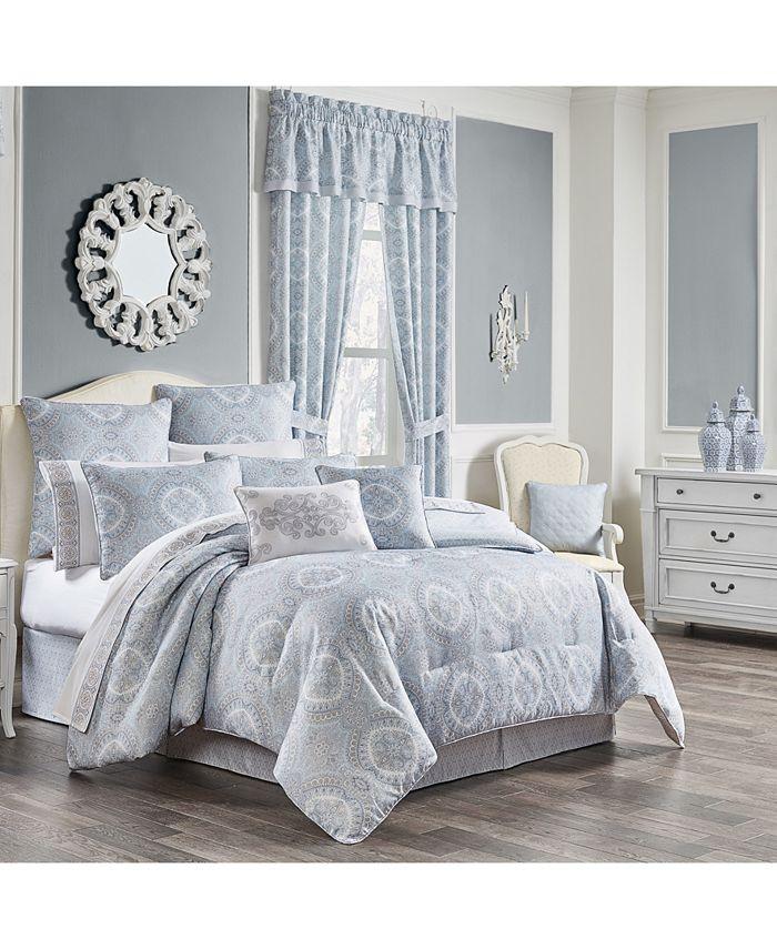 Royal Court - Claremont Blue Full 4pc. Comforter Set
