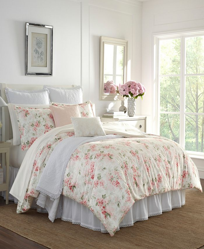 Laura Ashley - Wisteria Velour King Comforter Set