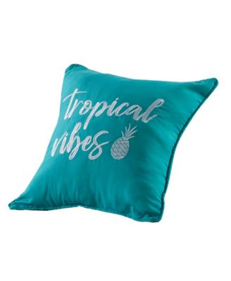 """Tropical Vibes Pillow, 18"""" x 18"""""""