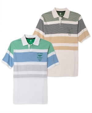 Rocawear Shirt Marled Stripe Polo Shirt