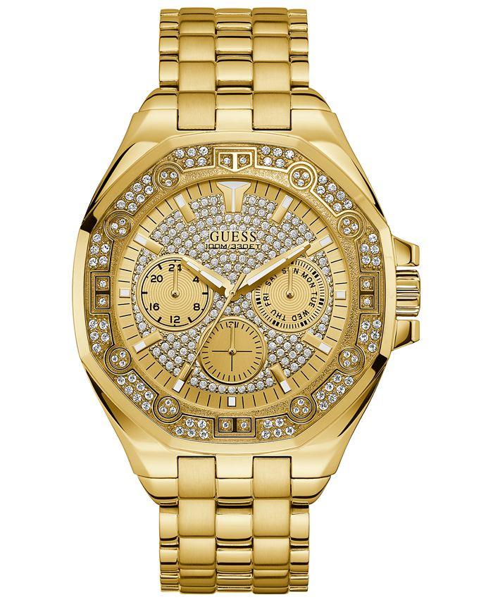 GUESS - Men's Gold-Tone Stainless Steel Bracelet Watch 47mm