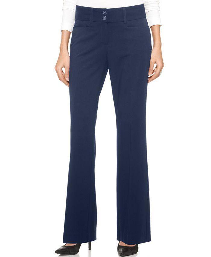 Alfani - Two-Button Curvy-Fit Pants