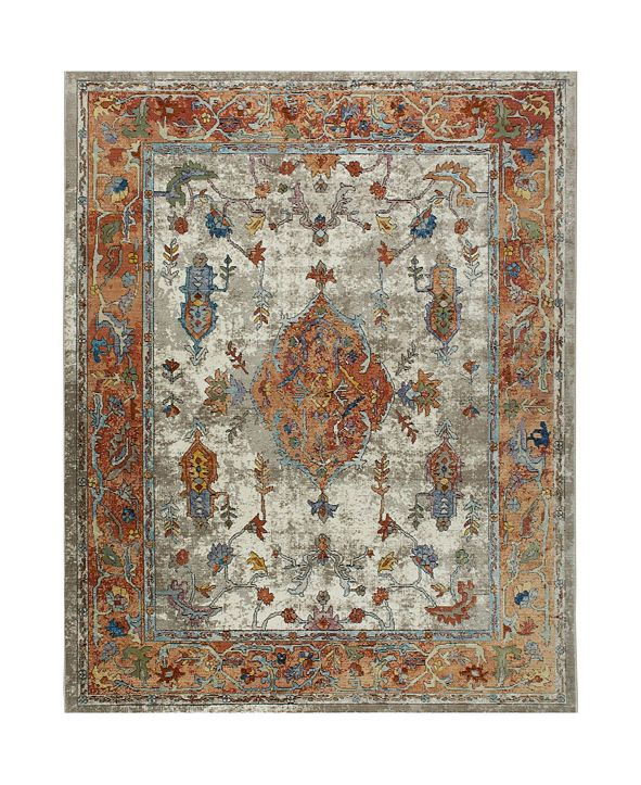 """Nicole Miller Parlin Aster Ivory 9'2"""" x 12'5"""" Area Rug"""