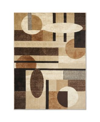 "Brighton BRI10 Brown 7'10"" x 10'6"" Area Rug"