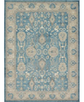 Bellmere Bel6 Light Blue 5' x 5' Square Area Rug