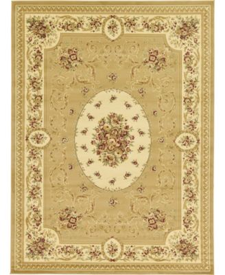 Belvoir Blv4 Tan 4' x 4' Square Area Rug