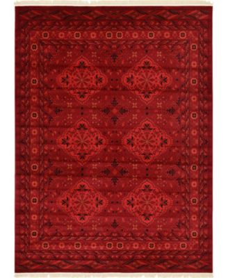 Vivaan Viv1 Red 9' x 12' Area Rug