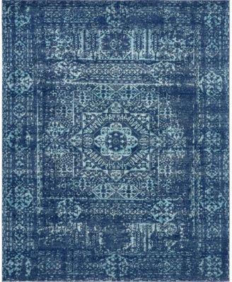 Wisdom Wis3 Navy Blue 4' x 6' Area Rug
