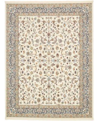 Zara Zar1 Ivory 8' x 10' Area Rug