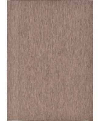 Pashio Pas6 Light Brown 2' x 6' Runner Area Rug
