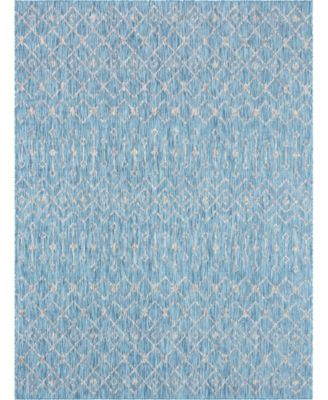 Pashio Pas7 Light Aqua 9' x 12' Area Rug