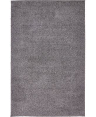 Salon Solid Shag Sss1 Dark Gray 8' x 10' Area Rug