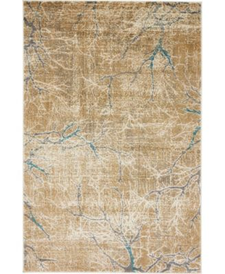 Aroa Aro1 Light Brown 4' x 6' Area Rug