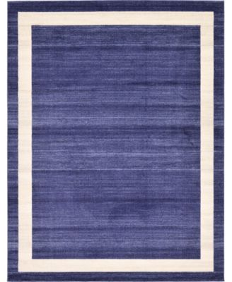 Lyon Lyo5 Navy Blue 8' x 8' Square Area Rug