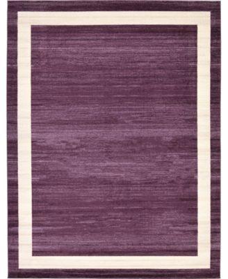 Lyon Lyo5 Violet 8' x 8' Square Area Rug