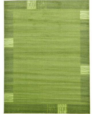 Lyon Lyo1 Green 9' x 12' Area Rug