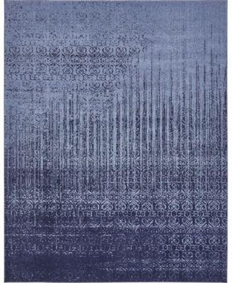 Lyon Lyo2 Blue 8' x 8' Square Area Rug