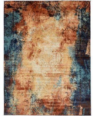 Marblesea Mrb3 Peach 5' x 8' Area Rug