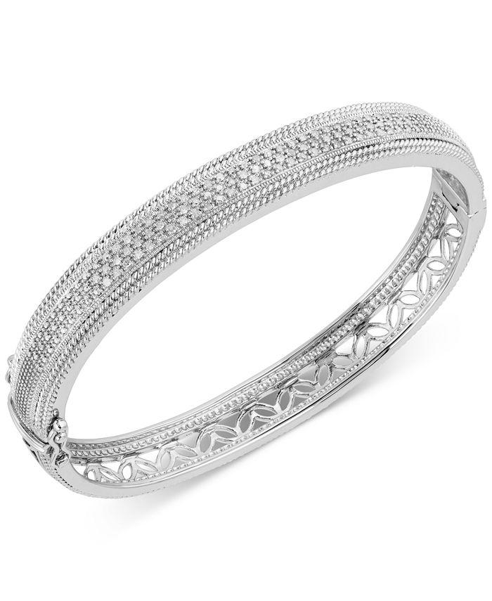 Macy's - Diamond Bangle Bracelet (3/8 ct. t.w.) in Sterling Silver