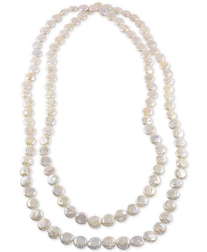 """Macy's - Cultured Freshwater Coin Pearl (12-13mm) 64"""" Endless Strand Necklace"""
