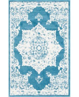 Mishti Mis6 Blue 4' x 6' Area Rug