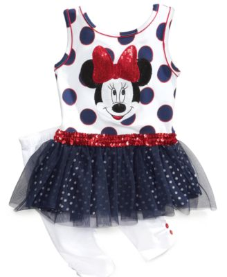 Nannette Baby Set Baby Girls Minnie Mouse Top and Pants Set