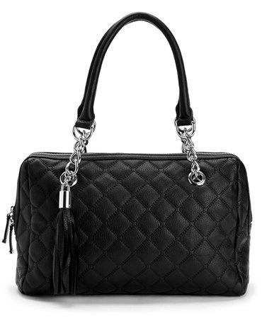 Calvin Klein Geneva Quilted Leather Satchel Handbags