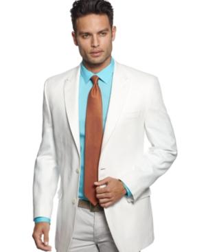 Sean John Jacket White Linen Blazer