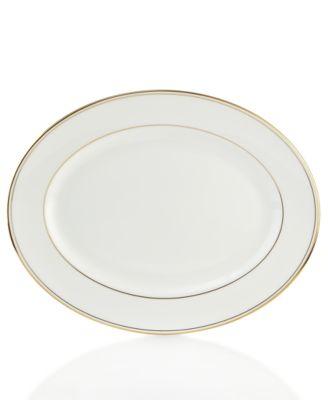 "Lenox Federal Gold Oval Platter 13"""