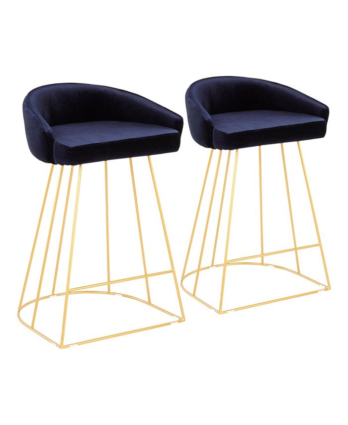 Lumisource - Canary Upholstered Counter Stool, Quick Ship (Set of 2)