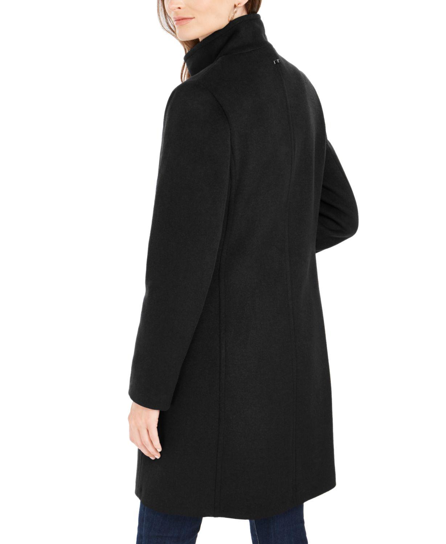 Calvin Klein Stand-Collar Walker Coat, Created for Macys & Reviews - Coats - Women - Macy's